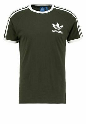 Adidas Originals t shirt Men's California Retro Crew Neck Short Sleeve Olive