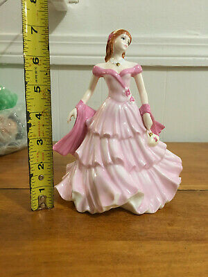 Coalport Miniature Figurine-Debutante-Birthday Wishes-Made In England