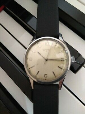 Vintage Gents 1958 Longines SS Manual Watch. CAL 23ZS. Tropical Dial.