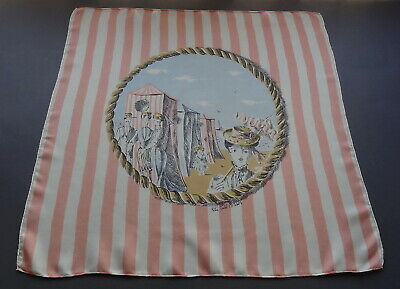 Rare Vintage Peter Todd Mitchell by Bianchini Ferier Small Silk Art Scarf