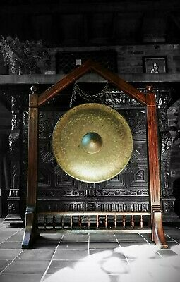 19th century BRONZE TEMPLE GONG Victorian aesthetic, meditation, shamen, yoga