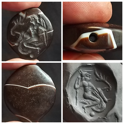 Very Unique Old Yamni Agte Wonderfull Intaglio Sulamnin Bead