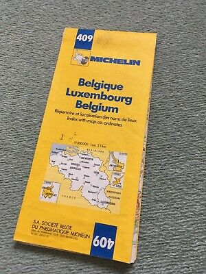 Vintage Michelin Road Map No 409 Belgium and Luxembourg