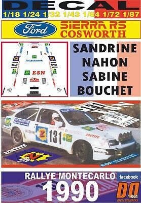 Decal Ford Sierra Rs Cosworth Sandrine Nahon R. Montecarlo 1990 (03)