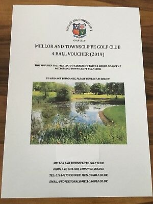 Golf Voucher For 4 People At Mellor And Townscliffe Golf Course, SALE