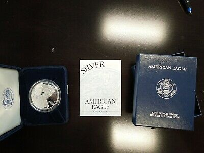 2001 American Proof Silver Eagle 1 oz. - US Mint with BOX and COA - no reserve