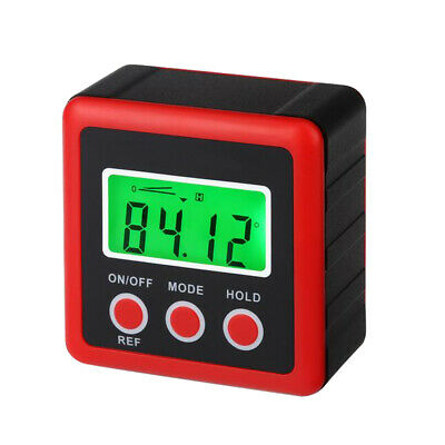 Digital Magnetic Angle Gauge Cube/Protractor/Bevel Box/ Inclinometer Red