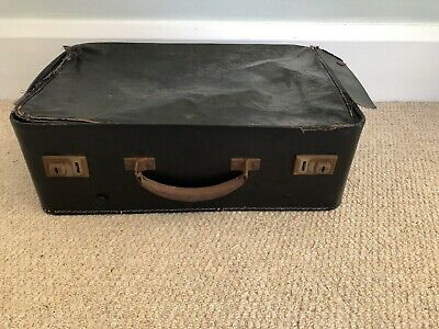 Vintage Suitcase : Dark Blue Vintage Luggage Case For Storage