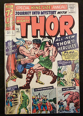 Journey into Mystery Annual #1 - The Mighty THOR vs HERCULES - 1965 VG 4.0