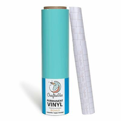 Craftables Tiffany Blue Vinyl Roll - Permanent, Adhesive, Glossy  Waterproof |