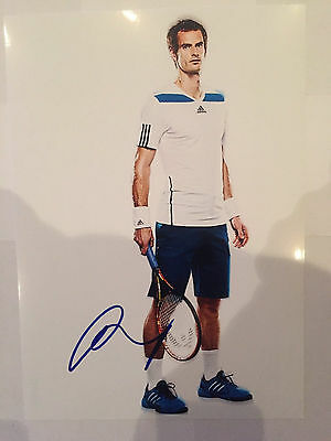 Tennis star Andy Murray AUTOGRAPHED picture photo