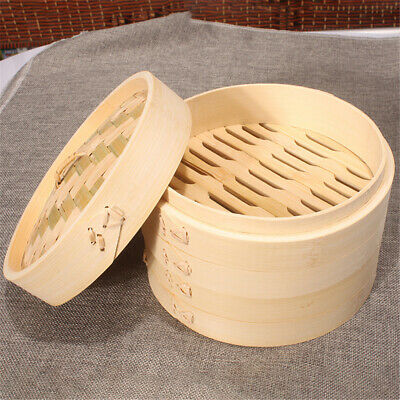 Chinese Bamboo Food Steamer Baskets with Lid Kitchen Food Cooking Tools 15cm