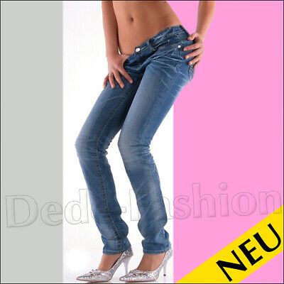 NEU 🌸 Sexy Light Blue DENIM Jeans REDIAL Destroyed Used Style 🌸 S M L