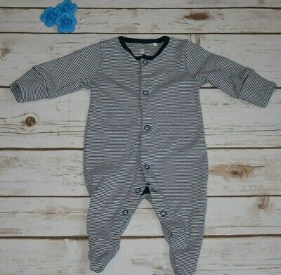 Ex Next Boys Sleepsuit 3-6 months Baby Boys Babygrow Stripes Newborn Sleepsuit