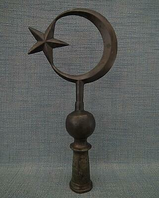 Antique 19th century Turkish Ottoman Military Standard Tug Finial Islamic Alam
