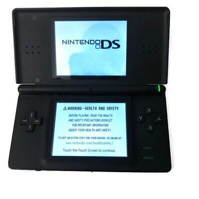 Nintendo DS Lite Cobalt Blue and Black System - No Charger Or Stylus - Working