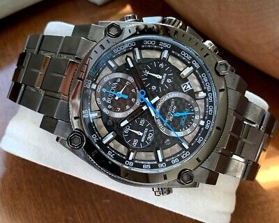 Bulova Men's Precisionist Watch 98B229 Gunmetal Steel Carbon Fiber Date Chrono 2