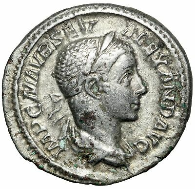 DAILY WAGE Silver Denarius Roman Coin of Severus Alexander CERTIFIED AUTHENTIC