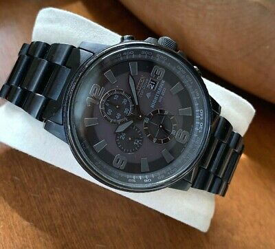 Citizen Eco-Drive Men's Nighthawk CA0295-58E Watch Black Solar Date Chronograph