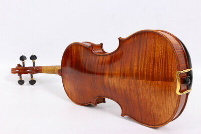Master Full size violin 4/4 Flame Maple back Russian spruce top Handmade#1035