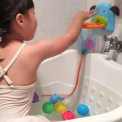 Bathtub Shooting Game Suctions Cups Bath Toys With Balls Baby Shower Plastic