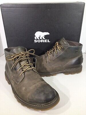 eaa2a0f7d6d MENS SOREL MADSON Chukka Camo Waterproof Casual Leather Ankle Boots ...