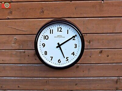 Vintage Early Smiths Wall Clock, Bakelite. Restored & Updated! Stunning