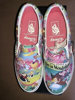 97ea1f0ee4 Vans Classic Slip On Disney Alice In Wonderland Pink Women 9.5 New NIB  Sneakers