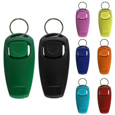 Pet Dog Training Tool Multi Colors Optional Dogs 2 in 1 Clicker Whistle Supplies