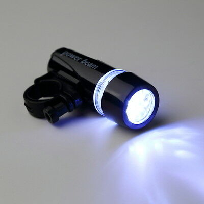 Black Plastic Lamp Bike 5 LED Beams Front Head Light Flashlight for Handlebar G@