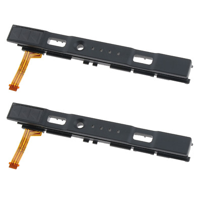 2Pcs Right Rail Slider Assembly with Flex Cable for Nintendo Switch Joy-con