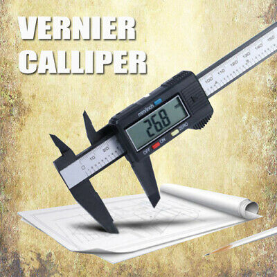 Digital Electronic Gauge Stainless Steel Vernier 150mm 6'' Caliper Micrometer US