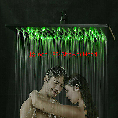 16-inch LED Shower Head Ceiling/Wall Mount Oil Rubbed Bronze Rain Square Sprayer