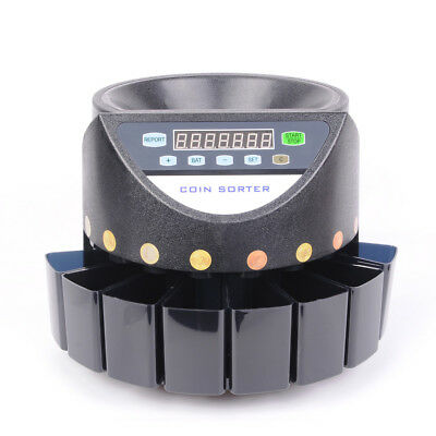 VI Auto Euro Coin Counter Money Sorter Electric Cash Currency Counting Machine