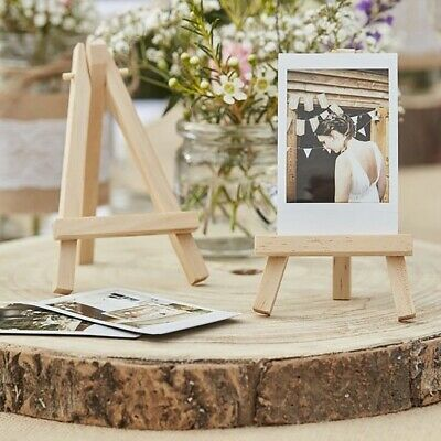 Mini Wood Easel Wedding Meeting Table Number Name Card Stand Display Holder