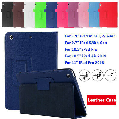 "Smart Case Slim Leather Magnetic Cover For iPad mini Pro Air 9.7"" 10.5"" 2019"
