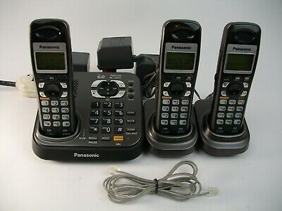 Panasonic KX-TG9341T Dect 6.0 Cordless Phone & Answering Machine with 3 Handsets