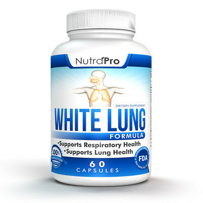2 X White Lung by NutraPro-Lung Cleanse & Detox. 2 Months Supply