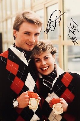 Torvill and Dean HAND SIGNED 12x8 Bolero Olympic Gold Photograph *IN PERSON* COA