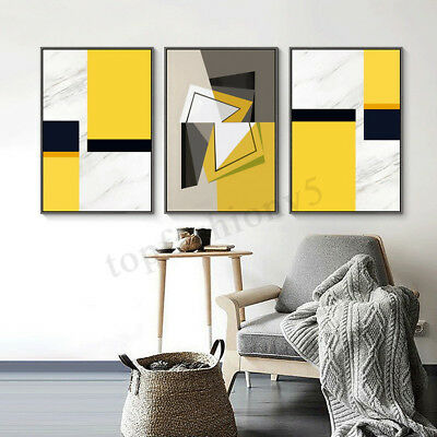 3Pcs Abstract Canvas Print Painting Wall Art Oil Picture Home Decor Unframed