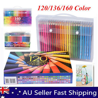 120/136/160 Colored Pencils Set Artist Art Drawing Painting Pen for Adult Kids