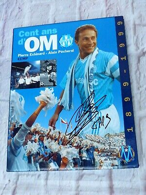 Lot 2 livres Collector OLYMPIQUE DE MARSEILLE OM signed JEAN PIERRE PAPIN foot