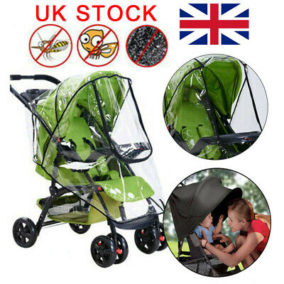 Universal Buggy Pushchair Stroller Pram Rain Cover UV Protecter Baby Wind Shield