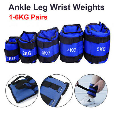 1-6KG Ankle Weights Adjust Leg Wrist Strap Running Training Fitness Gym Straps