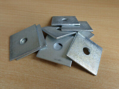 M10 & M12 Sqaure Plate Washers 50mm x 50mm x 3mm BZP