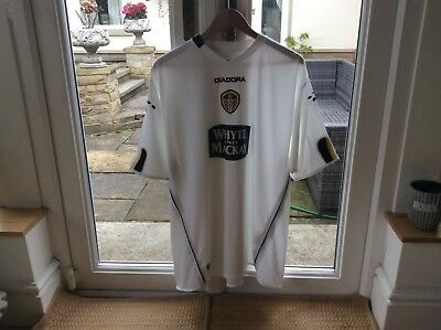 """Leeds United Diadora Vintage Xl Home Shirt 2004/5 Brand New Without Tags;"""","""