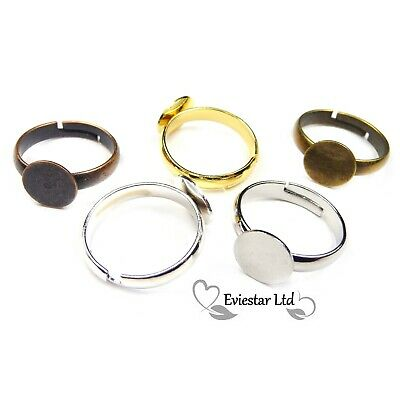 Adjustable Kids Brass Pad Ring Blanks Lead and Nickel Free Tray 8mm RB-14
