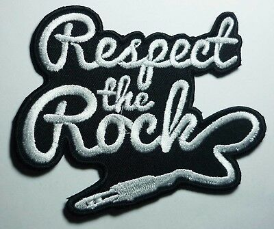 RESPECT THE ROCK embroidered patch The Hellacopters Gluecifer The Datsuns