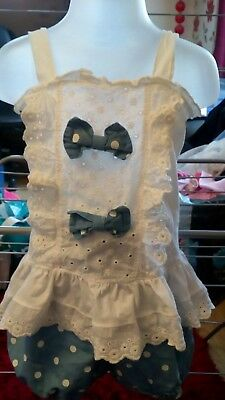 girls top and shorts set size 120