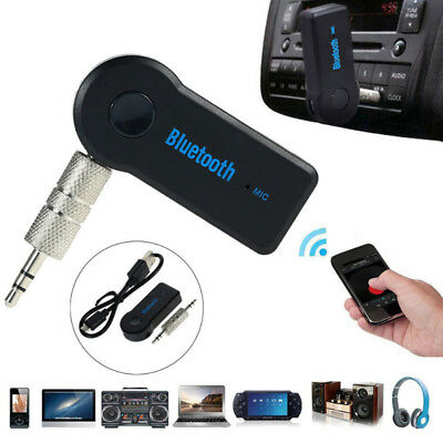 Drahtlose Bluetooth 35 mm Audio Stereo Musik Home Car Receiver Adapter Gi_Gift
